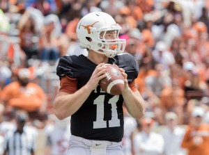 Sam Ehlinger at the Spring game. (Will Gallagher/IT)