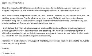 Chris Del Conte statement