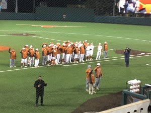 Texas following a Wednesday victory over Lamar (Joe Cook/IT)