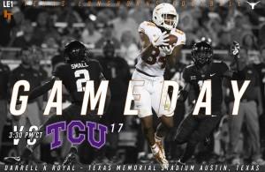 Texas-TCU Primer. (Will Johniken/IT)