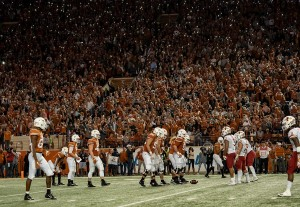 The Texas offense vs Iowa State in the 500th game at DKR. (Will Gallagher/IT)