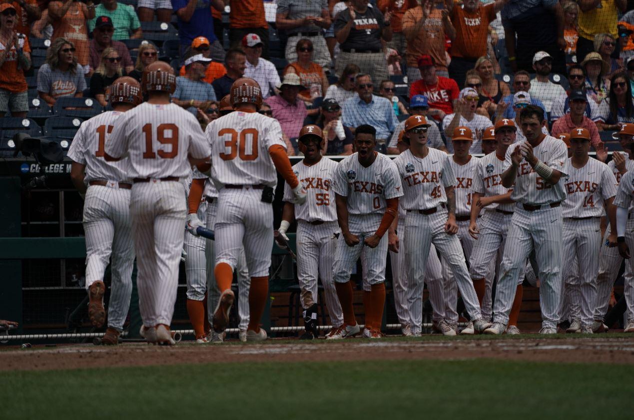 Texas baseball in Omaha (Courtesy of the NCAA)